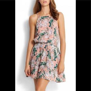 Palm desert print pink dress